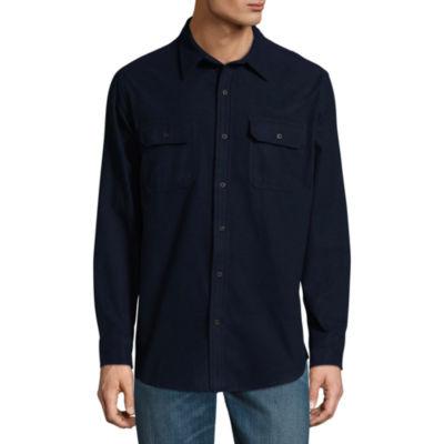 St. John's Bay Long Sleeve Stripe Button-Front Shirt