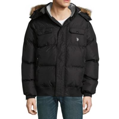 U.S. Polo Assn. Microfiber Midweight Puffer Jacket