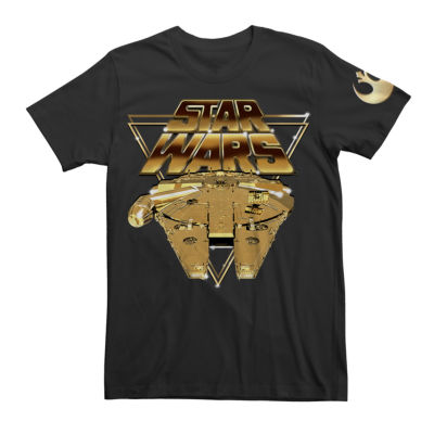 Short Sleeve Star Wars Tv + Movies EP 8 GOLD  Graphic T-Shirt