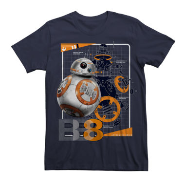 Short Sleeve Star Wars Tv + Movies EP 8 BB8 S  Graphic T-Shirt