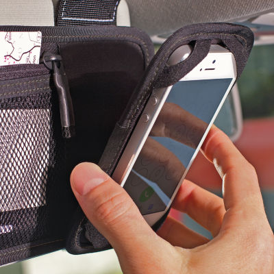 Hands-Free Phone Holder and Visor Organizer