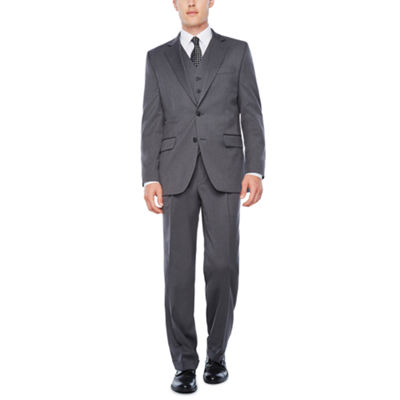 Stafford Travel Stretch Med Grey Suit Separates-Classic