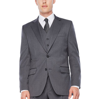 Stafford Travel Medium Gray Classic Fit Stretch Suit Jacket