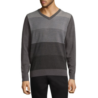 Haggar V Neck Long Sleeve Pullover Sweater
