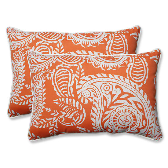 Pillow Perfect Addie Over-sized Rectangular Outdoor Pillow - Set of 2