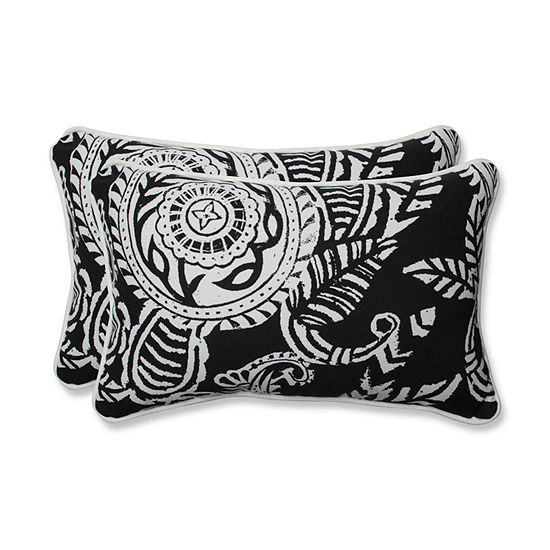 Pillow Perfect Addie Rectangular Outdoor Pillow -Set of 2
