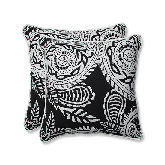 Pillow Perfect Addie Square Outdoor Pillow - Set of 2
