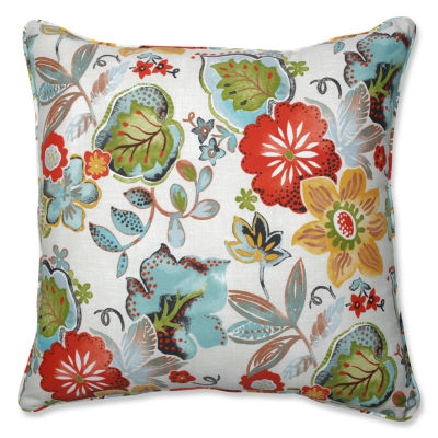 Pillow Perfect Alatriste Square Outdoor Indoor 25?Inch Floor Pillow