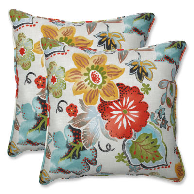 Pillow Perfect Alatriste Square Outdoor Pillow - Set of 2