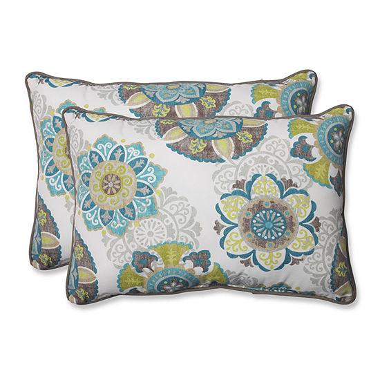 Pillow Perfect Allodala Rectangular Outdoor Pillow- Set of 2