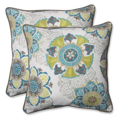 Pillow Perfect Allodala Square Outdoor Pillow - Set of 2