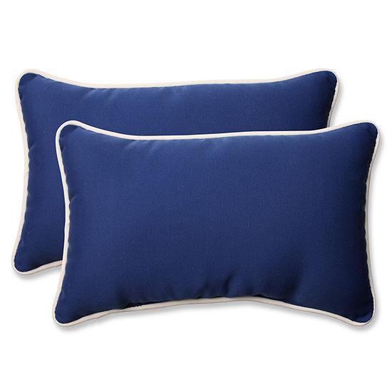 Pillow Perfect Americana Rectangular Outdoor Pillow - Set of 2