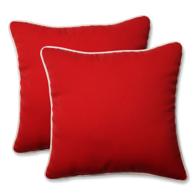 Pillow Perfect Americana Square Outdoor Pillow - Set of 2