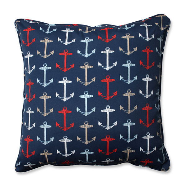 Pillow Perfect Anchor Allover Arbor Square Outdoor/Outdoor Floor Pillow