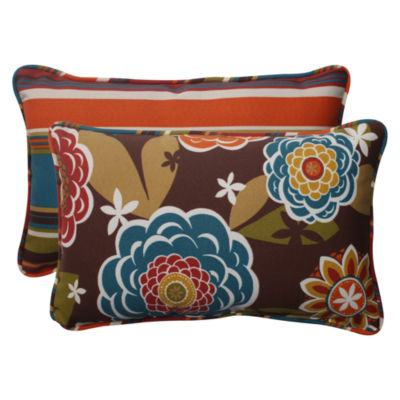Pillow Perfect Annie Westport Reversible Rectangular Outdoor Pillow - Set of 2
