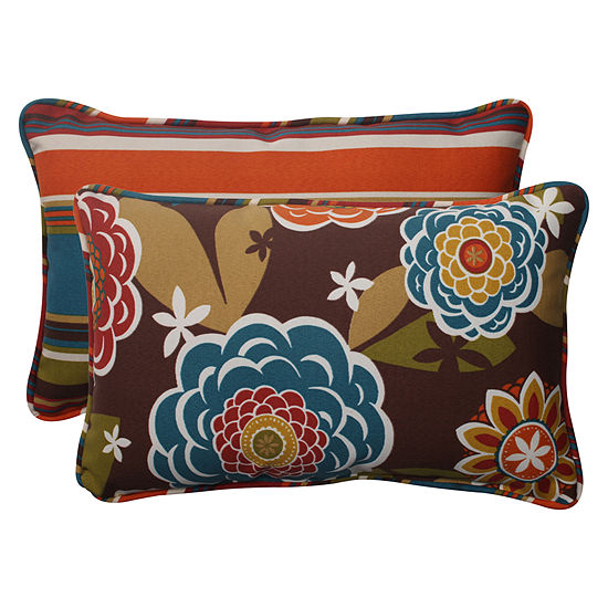 Pillow Perfect Annie Westport Reversible Rectangular Outdoor Pillow - Set of 2