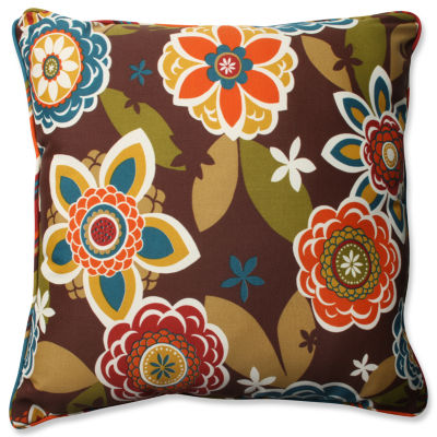 Pillow Perfect Annie Westport Reversible Square Outdoor/Outdoor Floor Pillow