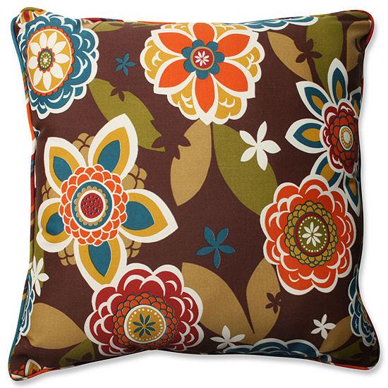 Pillow Perfect Annie Westport Reversible Square Outdoor/Outdoor Floor Pillow