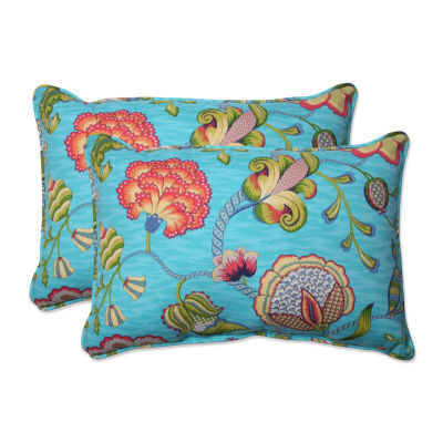 Pillow Perfect Arabella Rectangular Outdoor Pillow- Set of 2