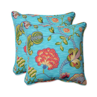 Pillow Perfect Arabella Square Outdoor Pillow - Set of 2