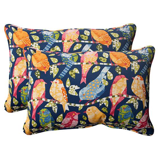 Pillow Perfect Ash Hill Rectangular Outdoor Pillow- Set of 2