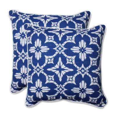 Pillow Perfect Aspidoras Square Outdoor Pillow - Set of 2