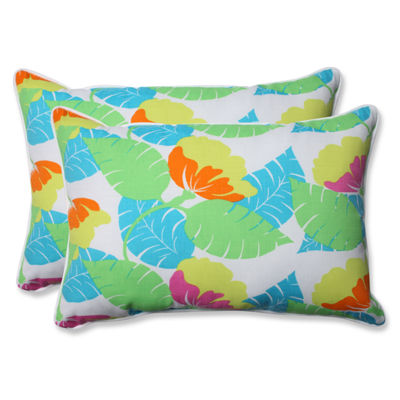 Pillow Perfect Avia Rectangular Outdoor Pillow - Set of 2