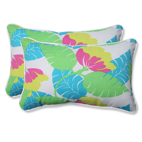Pillow Perfect Avia Rectangular Outdoor Pillow - Set of 2