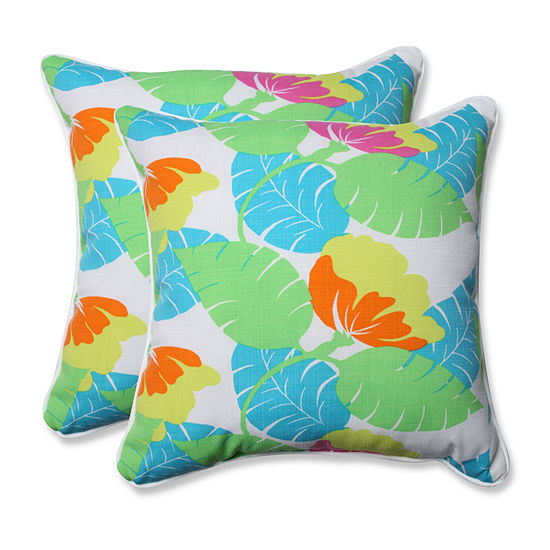 Pillow Perfect Avia Square Outdoor Pillow - Set of2