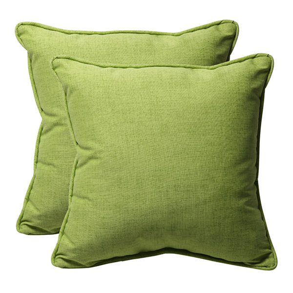 Pillow Perfect Baja Square Outdoor Pillow - Set of2