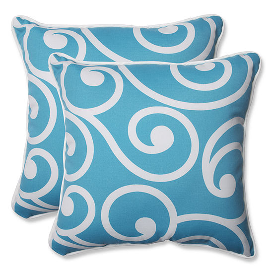 Pillow Perfect Best Square Outdoor Pillow - Set of2
