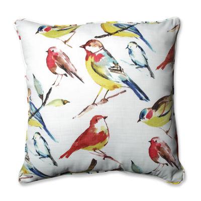 Pillow Perfect Bird Watchers Summer Square Outdoor/Outdoor Floor Pillow