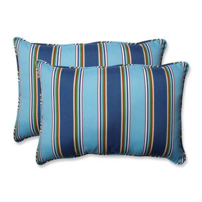 Pillow Perfect Bonfire Rectangular Outdoor Pillow- Set of 2