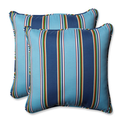 Pillow Perfect Bonfire Square Outdoor Pillow - Setof 2