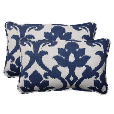 Pillow Perfect Bosco Rectangular Outdoor Pillow -Set of 2
