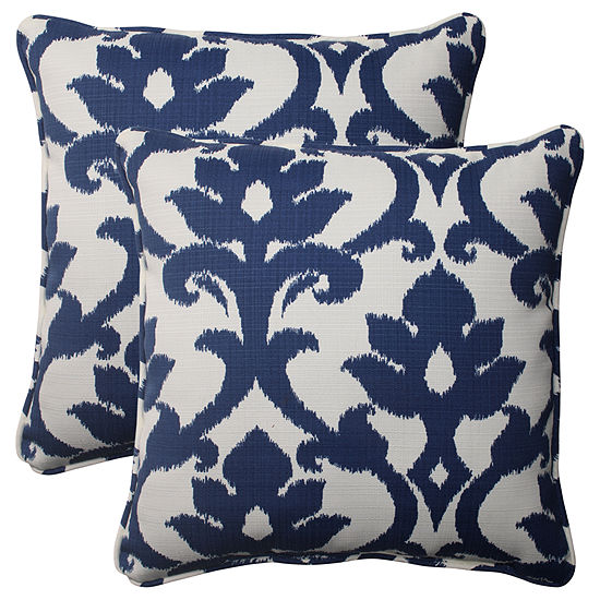 Pillow Perfect Bosco Square Outdoor Pillow - Set of 2