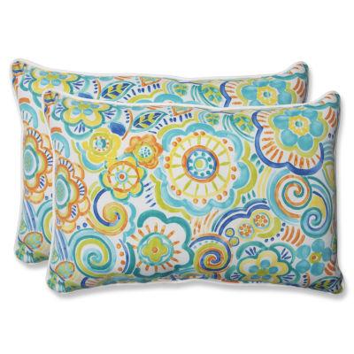 Pillow Perfect Bronwood Rectangular Outdoor Pillow- Set of 2