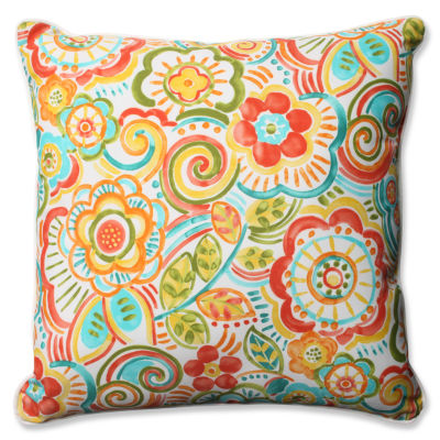Pillow Perfect Bronwood Square Outdoor Floor Pillow
