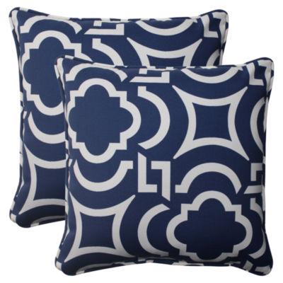 Pillow Perfect Carmody Square Outdoor Pillow - Setof 2