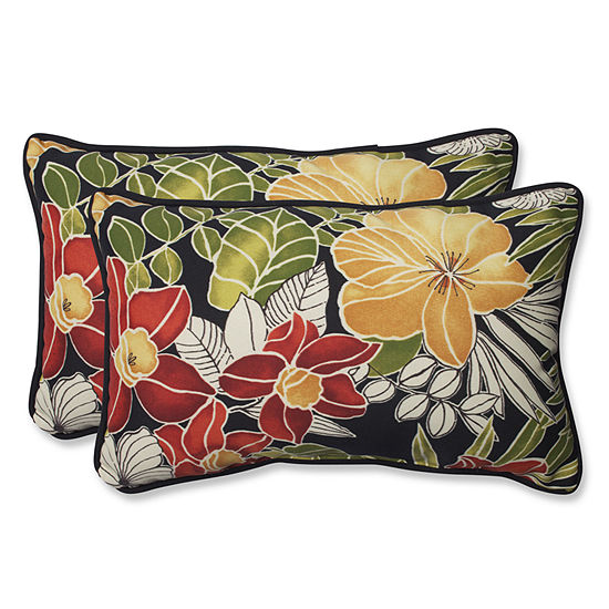 Pillow Perfect Clemens Rectangular Outdoor Pillow- Set of 2