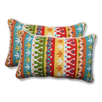 Pillow Perfect Cotrell Garden Rectangular OutdoorPillow - Set of 2
