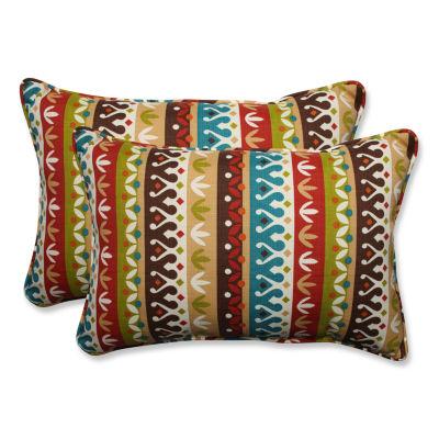 Pillow Perfect Cotrell Jungle Rectangular OutdoorPillow - Set of 2