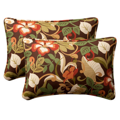 Pillow Perfect Coventry Rectangular Outdoor Pillow- Set of 2