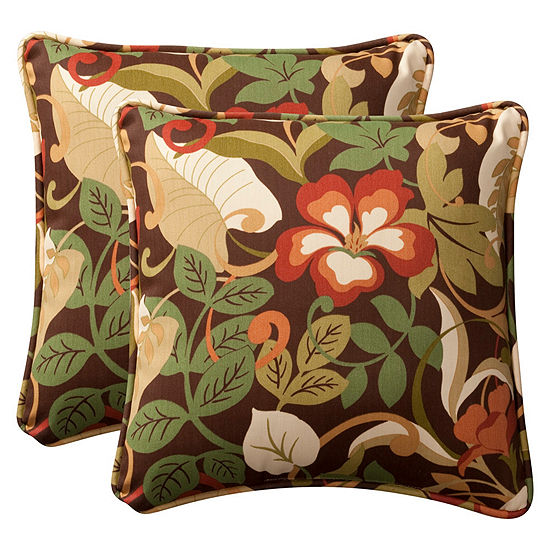 Pillow Perfect Coventry Square Outdoor Pillow - Set of 2