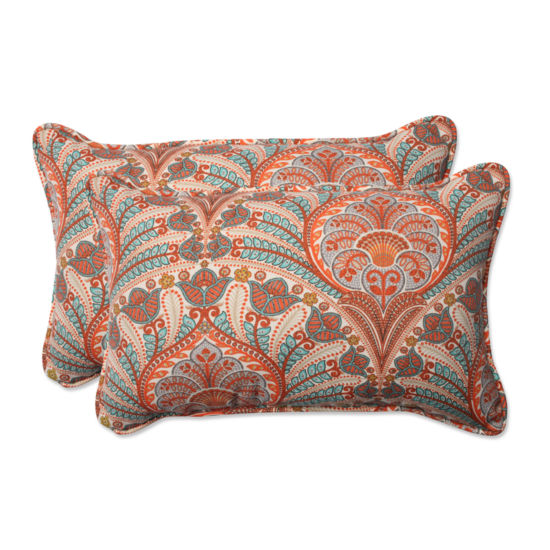 Pillow Perfect Crescent Beach Rectangular OutdoorPillow - Set of 2