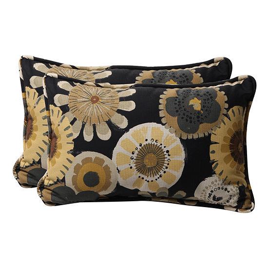 Pillow Perfect Crosby Rectangular Outdoor Pillow -Set of 2