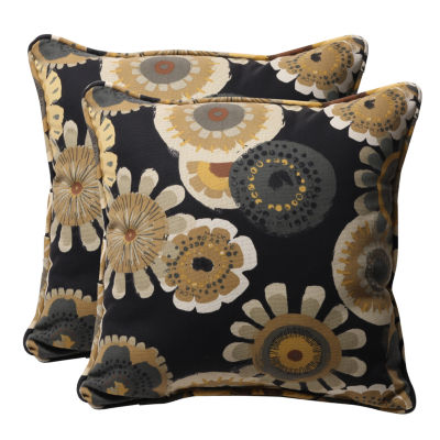 Pillow Perfect Crosby Square Outdoor Pillow - Setof 2