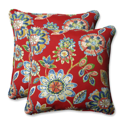 Pillow Perfect Daelyn Square Outdoor Pillow - Setof 2