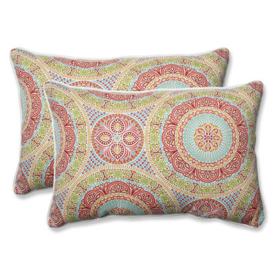 Pillow Perfect Delancey Rectangular Outdoor Pillow- Set of 2