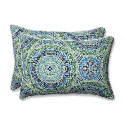 Pillow Perfect Delancey Rectangular Outdoor Pillow- Set of 2